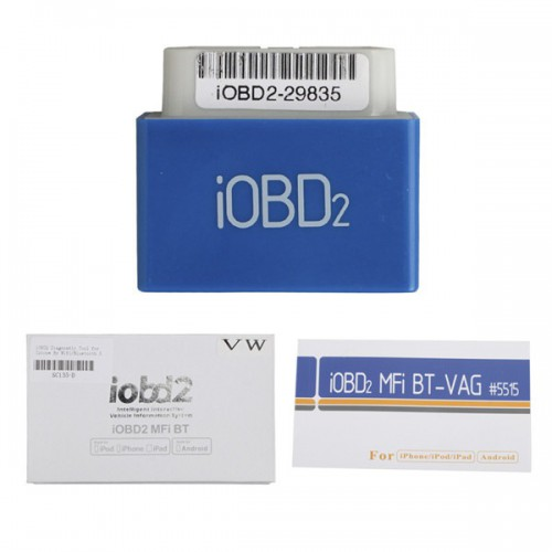 iOBD2 Diagnostic Tool For VW AUDI/SKODA/SEAT By Bluetooth Multi-languages