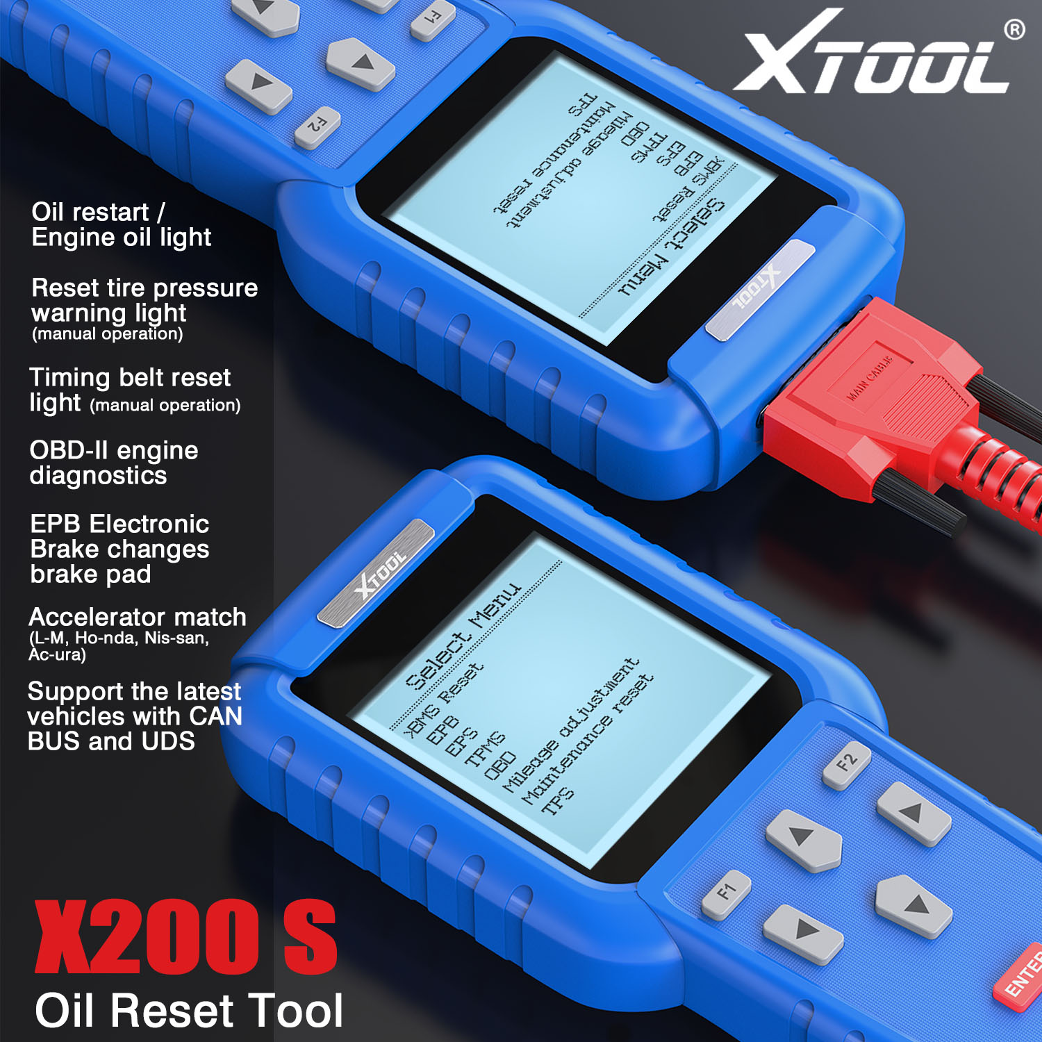 XTOOL X-200 Oil Reset Tool Free Shipping By DHL
