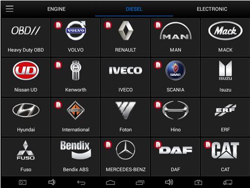 XTOOL EZ500 HD car list