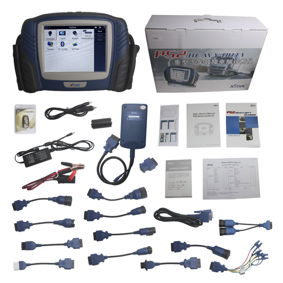【7% Off】100% Original Xtool PS2 HD Professional Truck  Diagnostic Tool Update Online-4