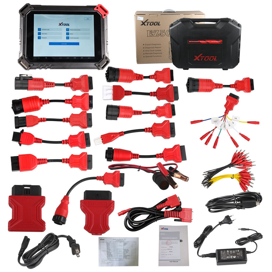【7% Off】100% Original XTOOL EZ500 HD Heavy Duty Diagnosis System with Special Function Same as PS90 HD-4