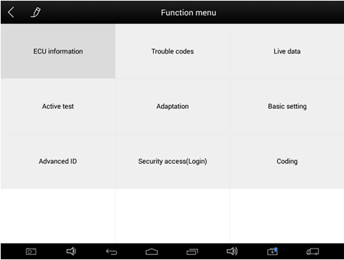 xtool ez500 function menu