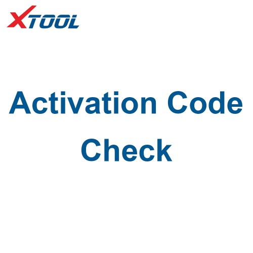 Xtool Activation Code Check