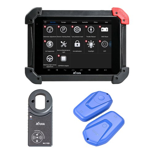 Xtool PS90 Tablet Diagnostic Tool Plus Xtool KC100 and Xtool KS-1 Emulator VW 4/5th IMMO and BMW CAS Key Programming/Toyota All Key Lost