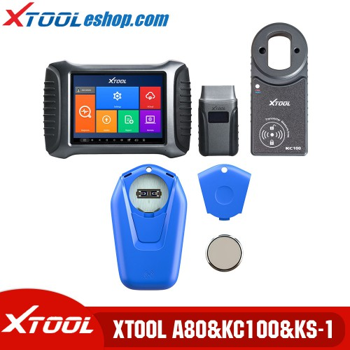 (US/UK Ship No Tax) Xool A80 H6 Repair Tool Plus Xtool KC100&Xtool KS-1 Smart Emulator for VW 4th&5th IMMO Toyota/Lexus All Key Lost