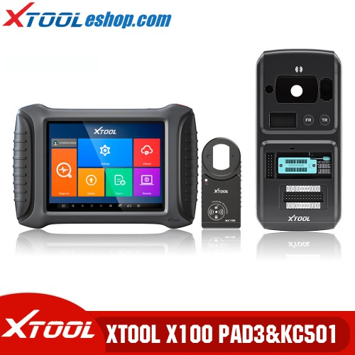 (5th Anni Sale) Xtool X100 PAD3 Plus Xtool KC501 Support Mercedes Infrared Keys MCU/EEPROM Chips Reading&Writing