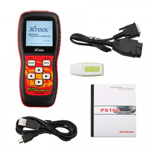 XTOOL PS100 EOBDII OBDII Can Scanner  Free Shipping