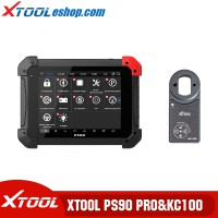 (5th Anni Sale)Xtool PS90 Pro Diagnostic Tool with KC100 Work for VW 4th&5th IMMO and BMW CAS Key Progamming for Cars&Trucks