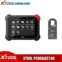 (US Ship No Tax) Xtool PS90 Tablet Professional Diagnostic Tool Plus Xtool KC100 Work for VW 4/5th IMMO and BMW CAS Key Programming