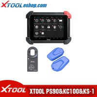 (US Ship) Xtool PS90 Tablet Diagnostic Tool Plus Xtool KC100 and Xtool KS-1 Emulator VW 4/5th IMMO and BMW CAS Key Programming/Toyota All Key Lost