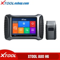 (US/UK/EU Ship No Tax) XTOOL A80 H6 Smart Diagnosis System Tool Car Repair Tool for Vehicle Programming/Odometer Adjustment PK H6 Elite Pro