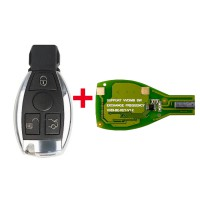 VVDI BE Key Pro Improved Version with Smart Key Shell 3 Button for Mercedes Benz Complete Key Package Get 1 Token