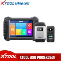 Buy XTOOL A80 Pro H6 Pro Full System Diagnosis ECU Coding Scanner Get XTOOL KC501 Mercedes Infrared Key Programming Tool