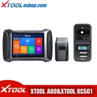 Xtool A80 H6 Car Repair Tool Plus Xtool KC501 Key Chip Programming Tool