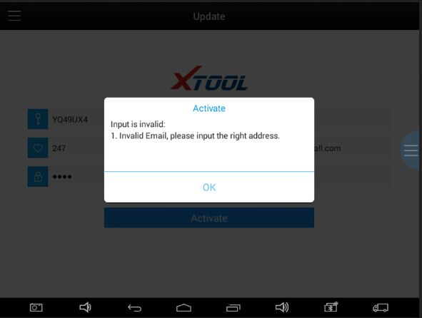 "XTOOL Active Fail with ""Input is Invalid"" Solution"